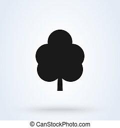 Tree silhouette Simple vector modern icon design illustration.