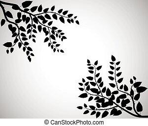 Tree silhouettes. Vector illustration.