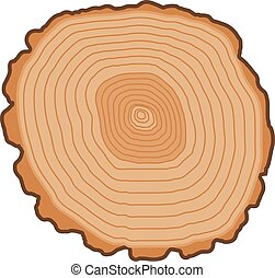 Tree slices vector isolated