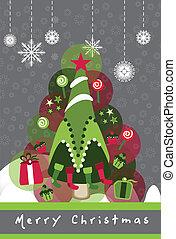 tree snowflakes wallpaper vector