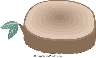 tree stump illustration