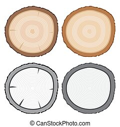 Tree Stump or Tree Rings Vector