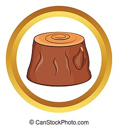 Tree stump vector icon