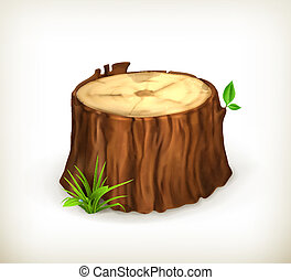 Tree stump, vector