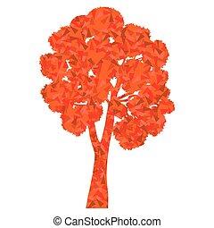 Tree stylized autumn eco symbol concept