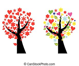 Tree stylized vector illustration