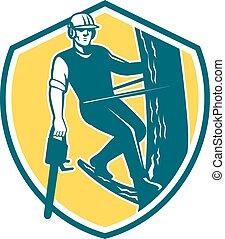 Tree Surgeon Arborist Climbing Chain Shield