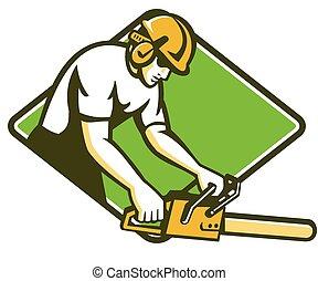 tree-surgeon-lumberjack-chainsaw-diamond - vector...
