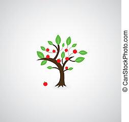 tree symbol  on gray background