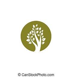 Tree symbol vector illustration