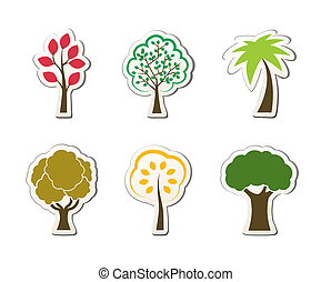 Tree symbols for green web design