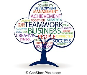 Tree teamwork logo