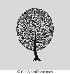 Tree the house