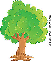Tree theme image 1 - vector illustration.