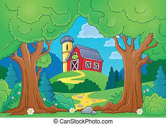 Tree theme with farm 2