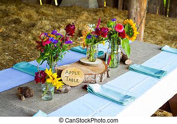 Tree Themed Wedding Reception Decor