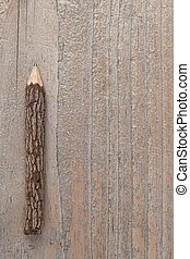 Tree trunk pencil