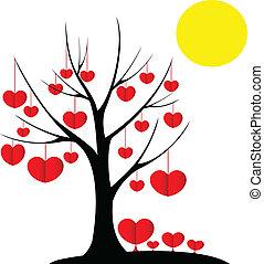 Tree Valentine's Day Vector