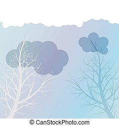 Tree vector background