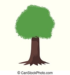 Tree vector cartoon isolated on a light background. Design element for your projects.