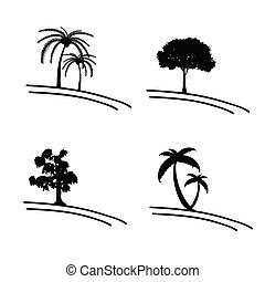 tree vector icon and symbol illustration