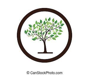 tree vector icon logo green design