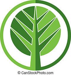 Tree vector icon.