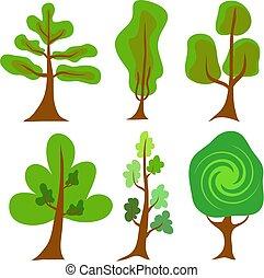 Tree Vector Icons. Illustration