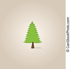 Tree. Vector Illustration.