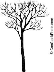 Tree vector on white background.