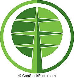 Tree vector round icon.
