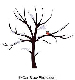 Tree winter sign