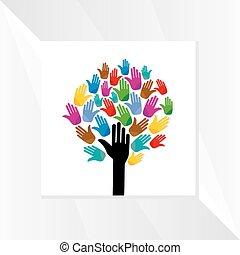 tree-with, ידיים