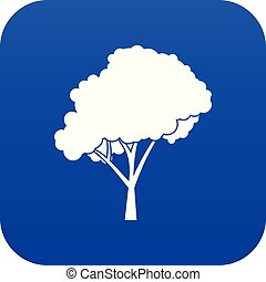 Tree with a rounded crown icon digital blue