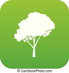 Tree with a rounded crown icon digital green