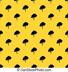 Tree with a rounded crown pattern vector