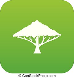 Tree with a spreading crown icon digital green