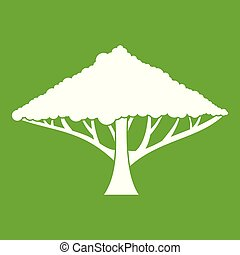 Tree with a spreading crown icon green