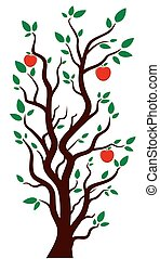 Tree with apples.