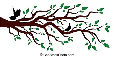 Tree with birds.