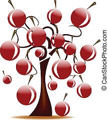 tree with cherries
