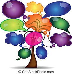 tree with comics