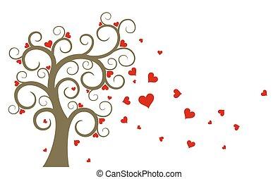Tree with hearts.