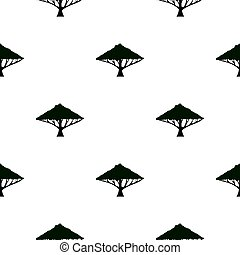Tree with large crown pattern flat