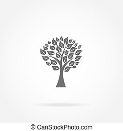 tree with leaves icon