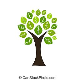 Tree with leaves icon.