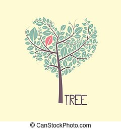Tree with Leaves Vector Flat Design Icon
