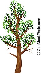 Tree with leaves vector icon
