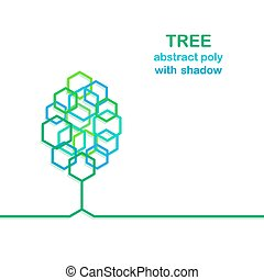 Tree with polygon stylized leaves