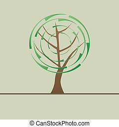 tree with Recycle symbol